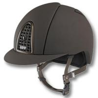 KEP ITALIA HELMET model CROMO T BROWN with METALLIC FRONT GRILLE