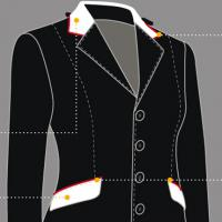CUSTOMIZATION EQUILINE COMPETITION JACKET WOMAN, COLLAR and POCKET FLAPS