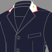 CUSTOMIZATION EQUILINE COMPETITION JACKET MAN, NECK
