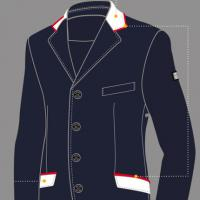 CUSTOMIZATION EQUILINE COMPETITION JACKET MAN, COLLAR and POCKET FLAPS