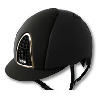 CASCO KEP ITALIA model CROMO T BLACK WITH FRAME GOLD