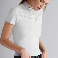 POLO SHIRT CAVALLERIA TOSCANA BIG PERFORATED WOMAN