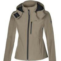 LADIES HOODED SOFT SHELL JACKET EQUILINE SABY