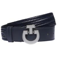 CAVALLERIA TOSCANA ELASTIC BELT WITH LOGO BUCKLE