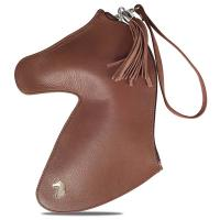 DESORI WOMAN'S GENUINE LEATHER HORSE-SHAPED CLUTCH BAG mod. DOH