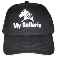 MY SELLERIA CLASSIC STYLE HORSE RIDING CAP WITH EMBROIDERY - 0011