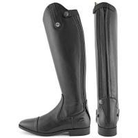 DERBY RIDING BOOTS IN BLACK LEATHER WITH ZIP