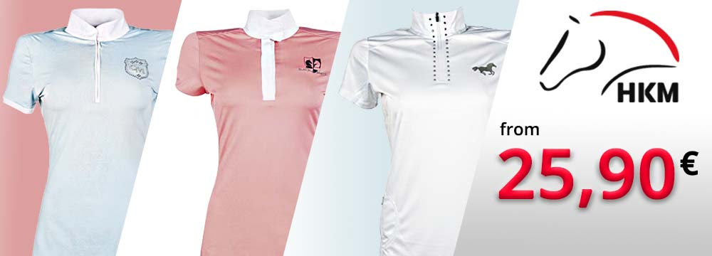 HKM Competition Polo for Men, Women and Child at Special Prices!