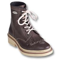 HORSE RIDING WESTERN WORK ANKLE BOOTS PIONEER OILED LEATHER